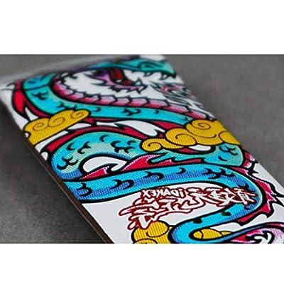 WJH9 Mini Skateboard Spielzeug, FSB Finger Skate Boarding Kleiner Finger, Profi-Legierung komplett aus Holz Maple reduzieren Druck Geschenke,Littlewhitedragon