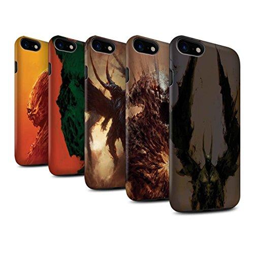 Offiziell Chris Cold Hülle / Matte Harten Stoßfest Case für Apple iPhone 7 / Raubtier/Jäger Muster / Wilden Kreaturen Kollektion Pack 6pcs