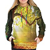 Photo de Women's Hoodies Tops,Majestic Mighty Oak Tree with Largely Broader Leaves Forest Sun Rays Nature,Lady Fashion Casual Sweatshirt par YATTYUG