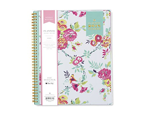 Day Designer for Blue Sky 2018 Weekly & Monthly Planner, Twin-Wire Binding, 8.5