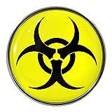 Biohazard Symbol Metal Pin Badge