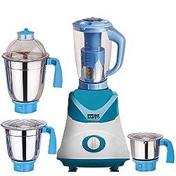MasterClass Sanyo Blue-White Color 550Watts Mixer Juicer Grinder with 4 Jar (1 Juicer Jar with filter, 1 Large Jar, 1 Medium Jar and 1 Chuntey Jar)