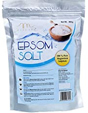 Mesmara Epsom Salt (Magnesium Sulphate) For Relaxation Muscle Relief, Relives Aches & Pain,Plant Growth 800 gms