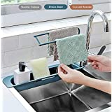 MG Telescopic Sink Shelf Adjustable Faucet Rack Dish Brushes Sponge Storage Shelves Sink Drain Basket Kitchen Sink Holder Rac