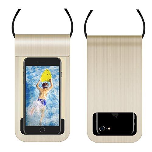 ülle mit Kordel, universal, für alle Smartphones mit 15,2 cm (6 Zoll), iPhone X 8/8Plus/717 Plus, 6S, SkmsungGalaxy Edge S8, Gold ()