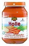 Holle Karotten mit Kartoffeln, 6er Pack (6 x 190 g) - Bio