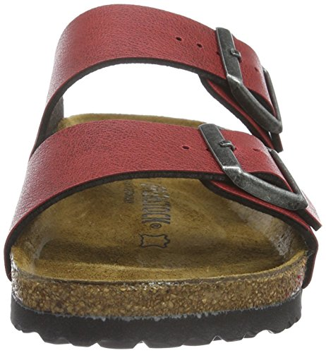 Birkenstock Arizona Pull Up Bordeaux, Sandales femme Rouge (Bordeaux)