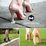 High Heel Protectors by MEGON - Heels Stopper for Womens Shoes, 6 pairs Small/Medium/Large - Perfect for Weddings, Races, Formal Occasions - Protecting from Grass, Gravel, Bricks & Cracks