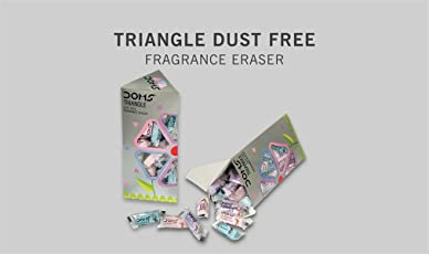DOMS TRIANGLE ERASER BOX (50PCS) (PACK OF 1)