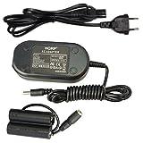 HQRP Netzadapter / Ladegerät mit DC Koppler für Fuji Fujifilm Finepix S2800HD, S2900, S2940, S2950, S2980, S2990, S3200, S4200, S4250, S4300, S4400, S4500, S4500HD