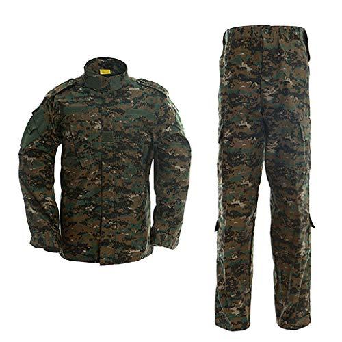 LANBAOSI Herren Tactical Jacke und Hose Militär Camo Jagd ACU Uniform 2PC Set - - M -