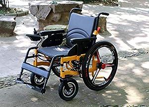 GJX Elderly Disabled Scooter, Aluminum Alloy Full Intelligent Electric Wheelchair, Four-wheel Electric Wheelchair Lightweight Folding Wheelchair