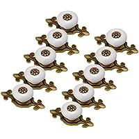 schrankgriffe, Finer Shop 10er Antik Design Weiss Altgold Porzellan Möbelknöpfe Griffe Knauf MöbelKnopf Möbelknöpfe Möbelgriff