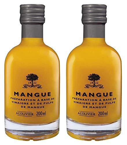 A l'Olivier - 2er-Set Fruchtessig mit Mango (Mangue) - 2 x 200 ml