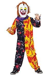 Bristol Novelty CC735 Vestido de Payaso de Halloween, Multicolor, Mediano, Edad aprox 5 - 7 años