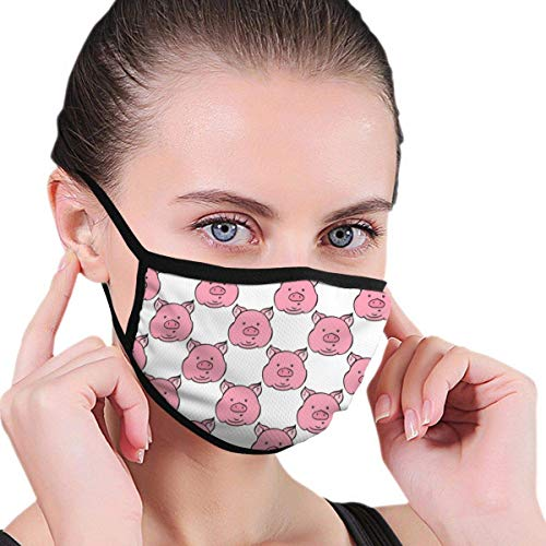 Bikofhd Cute Piglets Faces Mouth Mask Cute Mask Anti Dust Mask Washable and Reusable Mask for Pollen Allergies Somke
