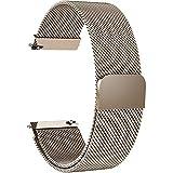 Fullmosa Milanese 18mm Uhrenarmband, Milanese Smart Watch Armand Ersatzband mit Edelstahl Magnet-Verschluss für 18mm Gold