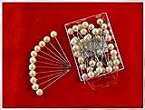 Perlen-Nadeln mit Perle CHAMPAGNER 10mm 55 Stück ACHTUNG! KEINE STECKNADELN