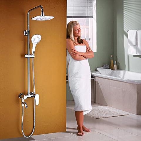 General cobre contemporáneo Blanco el grifo de la ducha ducha de lujo
