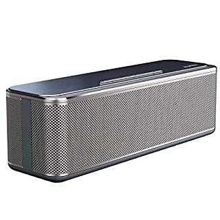 AUKEY Bluetooth Speaker 16W Dual Drivers with Enhanced Bass, 12Hours Playback, Metal Wireless Stereo Speaker for Echo Dot, iPhone, iPad, Samsung, Android, etc