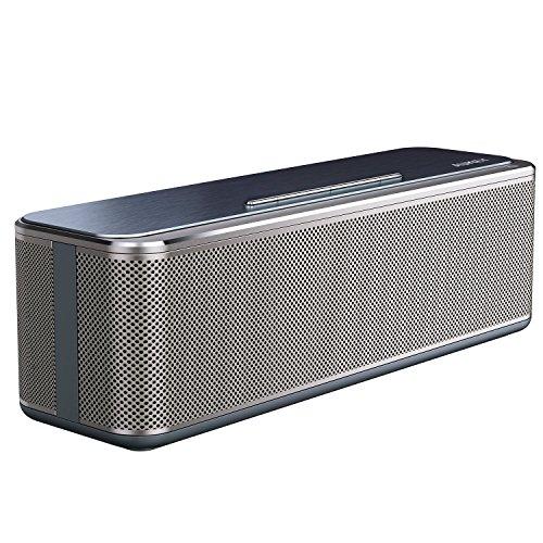 AUKEY Bluetooth 4.0 Lautsprecher mit verbessertem Bass, Dual-Treiber, Metall Elementen veredelt, Wireless Speaker für iPhone, iPad, Samsung, Nexus, HTC, Laptops und vieles mehr (SK-S1)