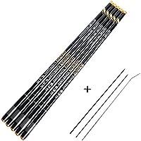 Goture Telescopic Fishing Rods Carbon Fiber Tenkara Rod Ultra Light Carp Fishing Pole Spinning Rod 10FT 12FT 15FT 18FT 21FT 24FT + Top 3 Segments