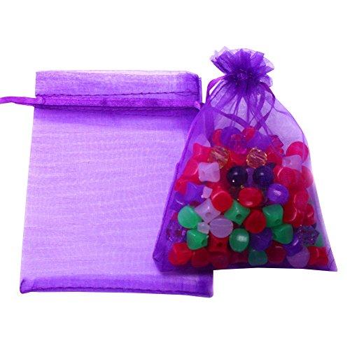 6590a3e9e Hesky Bolsas de Organza de Regalo (100 Piezas, 10 Colores) - Bolsitas.