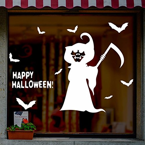 estival Hexe Wall Sticker animation terroristischen Ausdruck geek Shop bar Fenster Glasdekorationen, 100 * 70 cm (Halloween Animation Filme)