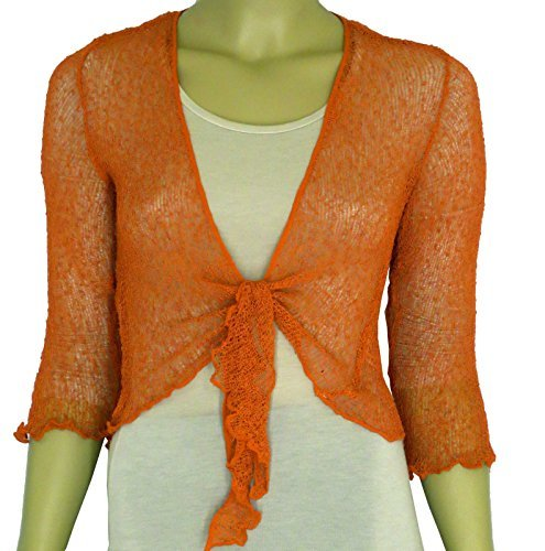 ladies-plain-knitted-cropped-tie-up-bolero-shrug-top-massive-range-of-colours-fit-all-sizes-terracot