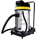 BPS Aspiratori industriali a secco bagnato (80 litri contenitori in acciaio inox, 3000 watt, aspiratore regolabile) aspirapolvere