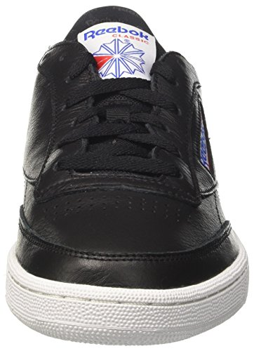 Reebok Club C 85 So, Chaussures de Gymnastique Homme Noir (Black/white/ Vital Blue/primal Red/ash Grey)