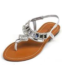 Kick Footwear - Donna cinturino alla caviglia e t-bar di moda estate scarpe sandali scarpe festa