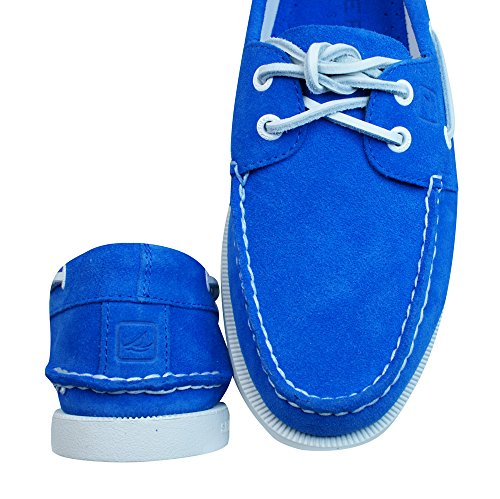Sperry A/O 2 Eye Suede Pont Chaussures Hommes Bleu