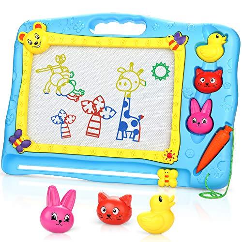 Fivejoy lavagna magica, tavolo da disegno magnetico, magnetica con lavagna magica per bambini piccoli, tavoletta da disegno cancellabile giocattolo educativo- 40 x 30 cm - blu