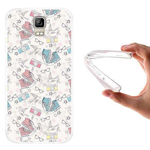 WoowCase Umi Rome Hülle, Handyhülle Silikon für [ Umi Rome ] Schuhe Kamera Brille Stern Handytasche Handy Cover Case Schutzhülle Flexible TPU - Transparent