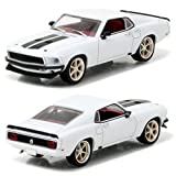 Greenlight Collectibles–86236–Fahrzeug Miniatur–Ford Mustang Anvil Halo–Fast and Furious 6–1967, weiß/schwarz, Maßstab 1/43