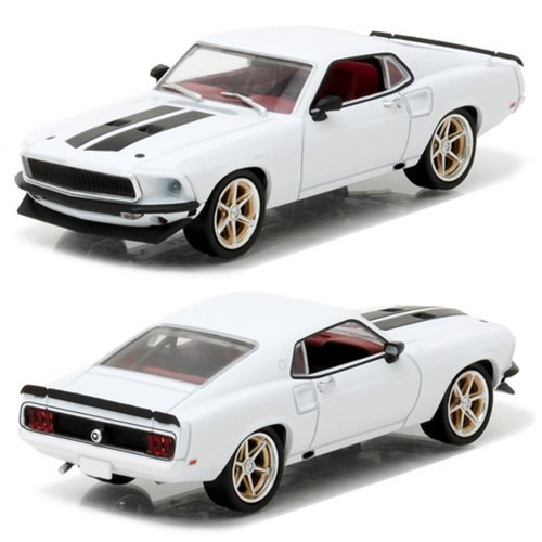 Greenlight Collectibles – 86236 – Fahrzeug Miniatur – Ford Mustang Anvil Halo – Fast and Furious 6 – 1967, weiß/schwarz, Maßstab 1/43