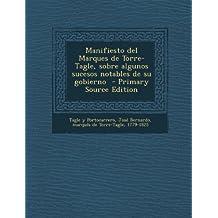 Manifiesto del Marques de Torre-Tagle, Sobre Algunos Sucesos Notables de Su Gobierno