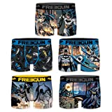 FREEGUN Lot de 5 Boxers Homme DC Comics Justice League Batman (M, Pack Comics Batman)