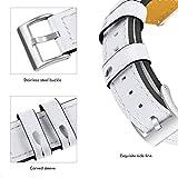 TianranRT Rolex Gürtel Weiß Ersatz Leder Armband Band Gurt Armband Für Fitbit Versa WH (Weiß)