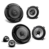 Kenwood Front/Heck 13cm/130mm Auto Lautsprecher/Boxen/Speaker Komplett-Set für BMW