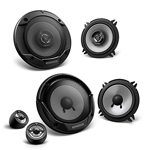 Kenwood Frontal/Trasera 13cm/130mm Auto Altavoz/Cajas/Speaker Set Completo para Renault