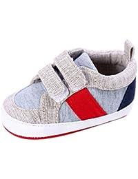 ALIKEEY chaussures BéBé GarçOn Fille Nouveau-Né Berceau Chaussure Semelle  Souple PremièRe Marche Premiers Pas ece7f3fb7fe2