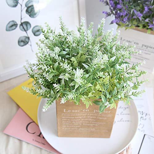 Faux Fleur, Hunpta 15heads Creative Fleurs Artificielles Lavande Faux Mariage Bouquet fête de mariage Home Decor blanc
