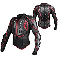 SunTime Chaqueta de Protección para Motocross Motos Ropa Protectora de Cuerpo Armadura Completo Profesional de Motocicleta Deportiva para Hombres Columna Vertebral Hombro Pecho ( Rojo, L )