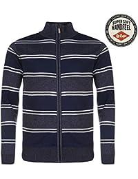 Lee Cooper de punto Full Zip sudadera para hombre azul sudadera jumper top, azul, large