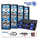 Unbekannt Blue Star Series PA Set Bassveteran Quadro 3200 Watt