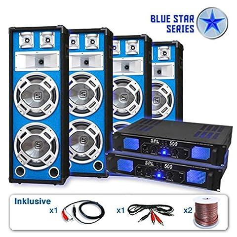 Blue Star Series PA Set Bassveteran Quadro 3200 Watt