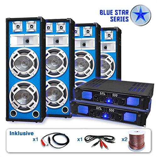 Serie Blue Star Bassveteran Quadro Equipo de sonido profesional 3200W