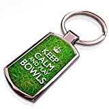 51bLU79F3FL. SL160  - Keep Calm and Play Bowls - metal keyring / keychain sports best price Review uk